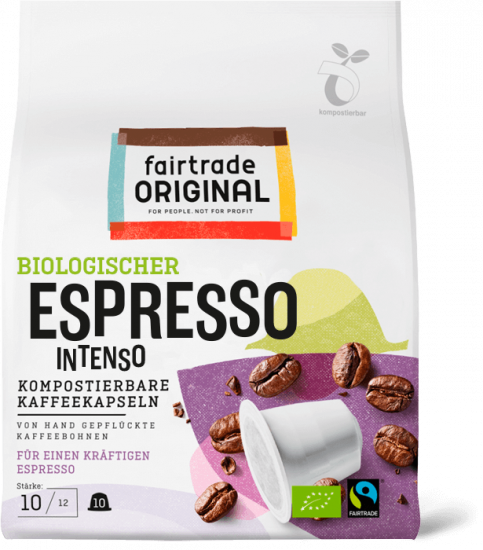 Biologischer Espresso Intenso kaffeekapseln