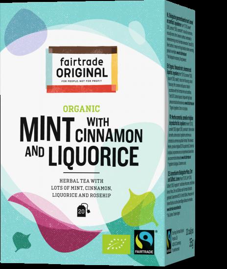 Organic Mint with cinnamon and liquorice