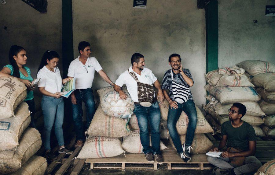 Kaffeeproduzenten von Red Ecolsierra Kolumbien