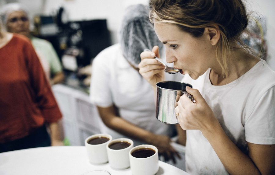 Cupping in Kolumbien